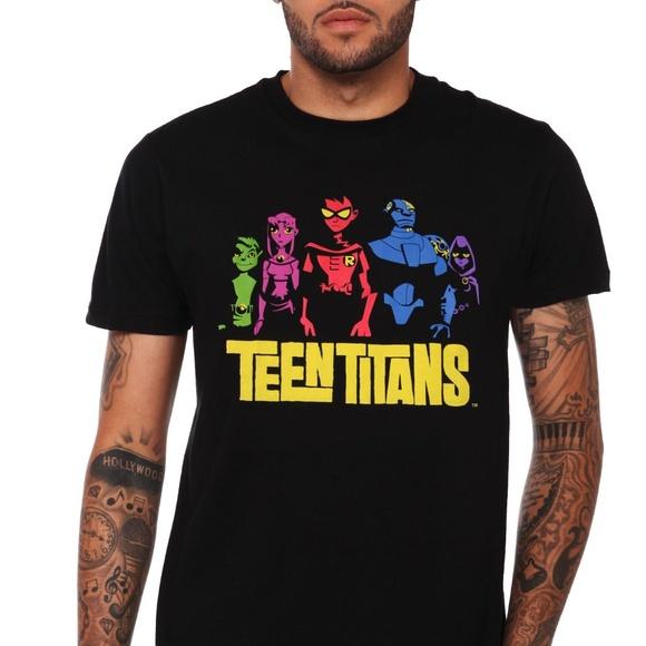 68f8fde8d04d DC Comics Other - DC Comics Teen Titans Original Black T-Shirt XL
